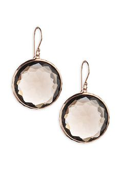 Ippolita 'Rock Candy' Rosé Smoky Quartz Earrings