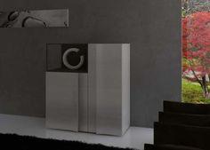 Elegante mueble aparador con detalle de decoración
