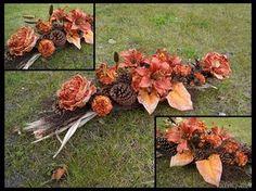 Zdjęcie nr #3403 Grave Decorations, Floral Wreath, Wreaths, Stone, Fall, Flowers, Florists, November, Design