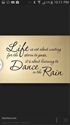 Live dance rain