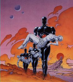Art by Philippe Caza for Gandahar. Arte Sci Fi, Sci Fi Art, Fantasy Films, Sci Fi Fantasy, Art Science Fiction, Sci Fi Horror, Horror Art, Alternative Art, Art Et Illustration