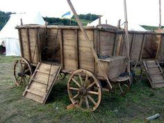 15. yüzyılda Alman Hussî birliklerinin kullandıkları Tabur arabası (yeni yapım) Reconstructions of 15th century Hussite war wagons