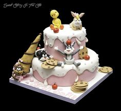 Gâteau Looney Tunes   Flickr - Photo Sharing!