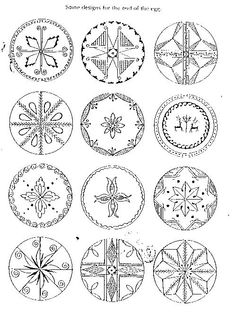 pysanky coloring pages - Google Search | Easter Eggs ...