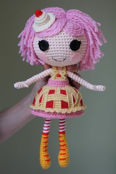 Hey, I found this really awesome Etsy listing at https://www.etsy.com/listing/159484353/pattern-lalaloopsy-cherry-crisp-crust Crochet Doll Pattern, Crochet Patterns Amigurumi, Amigurumi Doll, Cute Crochet, Crochet Crafts, Crotchet, Knit Crochet, Knitted Dolls, Crochet Dolls