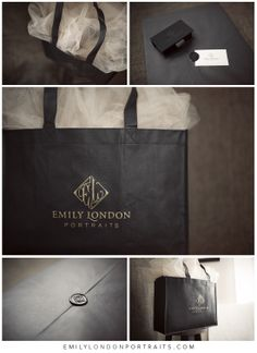 Emily London | Packaging | Photo Gifts | Professional | Black Box | Very professional way to deliver photographs and brand yourself