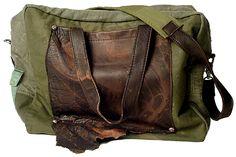 junker reclaimed material handbag