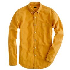 Crew - Yellow Tonal Oxford Shirt for Men - Lyst 950f9fa16