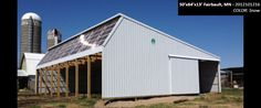 50'x64'x13' Cleary Dairy & Livestock Building in Fairbault, MN | Colors: Snow,