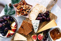 Hot Apple Cider & Christmassy Cheese Platter