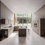 Solid wood kitchen with island LEGNO VIVO 2.6 - GD Arredamenti