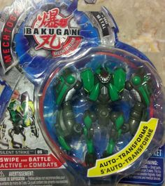 Bakugan Mechtogan Silent Strike (Colors and Styles May Vary) by Bakugan. $29.92. Action figures that transforms into a Bakugan weapon^Help you to defeat your opponent in battle Defeat your enemies with Mech-a-gan^Never before seen Bakugan action figures that transform into fierce battle weapons^1 Mech-a-gan + 1 metal gate card + 1 ability card^. From the Manufacturer                Unleash the hidden power of the mechtogan. This action figure meets bakugan tran...