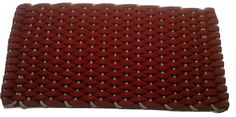 #353 Rose with Tan insert Rockport Rope Doormats 100% made in USA Hand woven