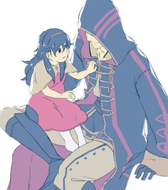 Robin and baby Lucina