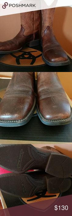 Host pick Ariat boots Host Pick 4/21/17 Square toe  worn once to a wedding.  Comes in box Ariat Shoes Boots