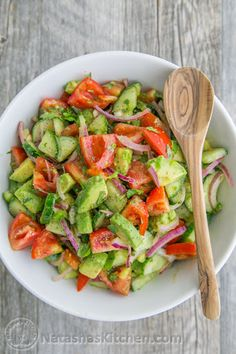 Cucumber Tomato Avocado Salad Recipe on Yummly. @yummly #recipe