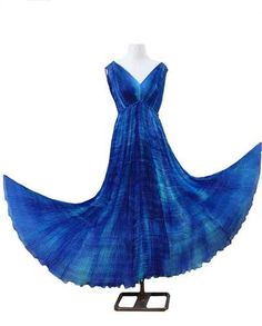 Period piece as worn by Helena Bonham Carter in 'The Wings of the  Dove.' Beautiful Persian Blue silk.