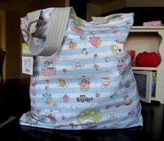 my buddles linen-cotton tote bag