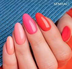 Best Nail Polish Colors of 2020 for a Trendy Manicure Aycrlic Nails, Love Nails, Pretty Nails, Fun Nails, Hair And Nails, Manicure, Peach Nails, Nagel Gel, Nail Decorations