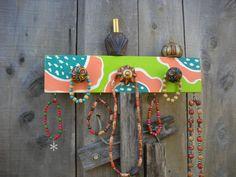 READY TO SHIP Hand painted Wall mount jewelry holder Jewelry display shelf  Jewelry wall mount  ©Jack Jack's Wayart