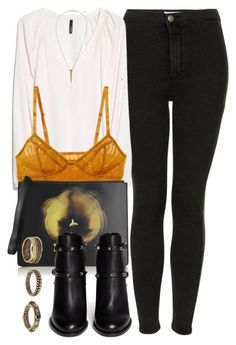 """""""Untitled #4439"""" by laurenmboot ❤ liked on Polyvore featuring Topshop, MANGO, Intimately Free People, Christopher Kane, Valentino, Forever 21 and H&M"""
