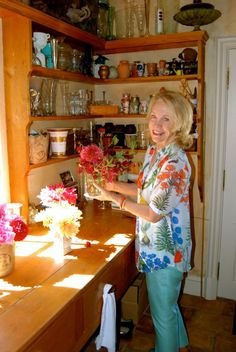 Bettie Bearden Pardee in her Newport, Rhode Island mudroom Image via Bettie Pardee Bearden