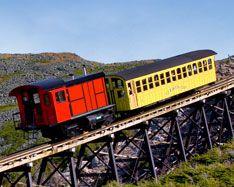 Cog railway in Mount Washington, NH