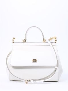 72616c3abe DOLCE   GABBANA SICILY SMALL BAG WHITE.  dolcegabbana  bags  shoulder bags   hand bags  leather  cotton