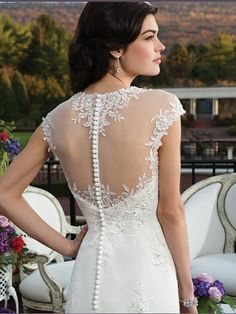 Sincerity Bridal Wedding Collection has a classic look. Lace detail and chiffon fabric. Customer can see more of this collection on our website.