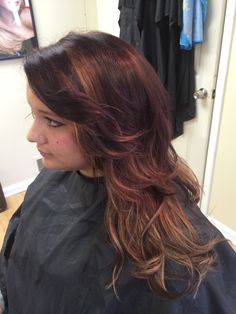 NEW fall color! Rich red with caramel undertones. At NC Hair Studio by Nichole