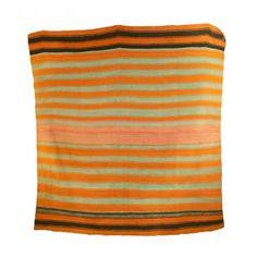HANDWOVEN BOLIVIAN RUG - handspun sheep's/alpaca wool striped rug