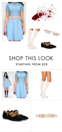 """""""""""The Shining"""" The Grady Twins Costume"""" by oliviaf14 on Polyvore featuring ToeSox, The Row, Ted Baker and Monsoon"""