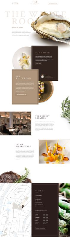 Ui concept design for the landings page of 'The White Room'. Opening soon in…