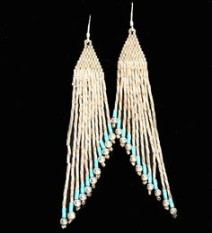 Sterling Silver Earrings Turquoise Native American by DesignsBloom, $38.00