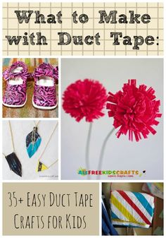 What to Make with Duct Tape: 41 Easy Duct Tape Crafts for Kids | AllFreeKidsCrafts.com