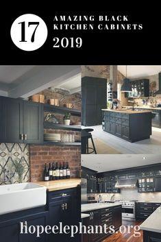 321 best black kitchen cabinets images in 2019 diy ideas for home rh pinterest com
