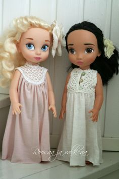 Roosaa ja valkeaa: DIY doll clothes