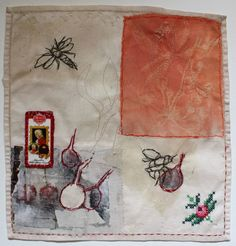 Original Nature Collage by Cas Holmes Textile Fiber Art, Textile Artists, Fibre Art, Nature Collage, Collage Art, Cas Holmes, History Of Textile, Abstract Embroidery, Embroidery Designs