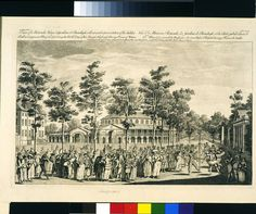 Print - View of the Rotundo House & Gardens at Ranelagh - Victoria & Albert Museum, 1751