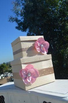 Pink Wedding Card Box by LoveNotes1122, $89.00
