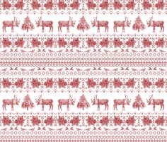 Jolly Christmas Jumper  fabric by deborahballingerillustrations on Spoonflower - custom fabric