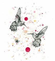 Resultado de imagen de colibries acuarelas