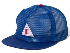 Royal Blue Triangle Mesh Snapback Cap by THE QUIET LIFE