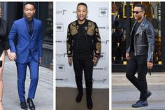 John Legend: Walking GQ cover, Grammy winner, all-around good guy. His bold suiting style has stolen many award show red carpets, but his sleek casual style deserves just as much praise. I could elaborate, but that leather jacket has swept me away into a menswear-meets-All of Me serenade daydream…