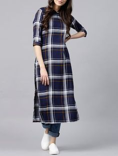 Silk Kurti Designs, Simple Kurta Designs, Kurta Designs Women, Stylish Dress Designs, Kurti Designs Party Wear, Designs For Dresses, Casual Indian Fashion, Long Dress Design, Kurta Neck Design