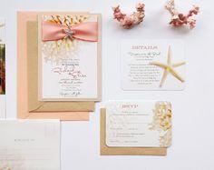 Beach theme wedding invites beach theme wedding invitations fancy couture destination wedding invitation beach by designedwithamore solutioingenieria Gallery