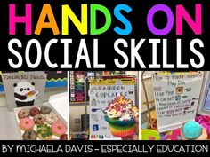 Hands on Social Skills for your special education, kindergarten, or elementary classroom. Life Skills Activities, Teaching Social Skills, Teaching Strategies, Teaching Resources, Teaching Ideas, Kindergarten Special Education, Special Education Teacher, Differentiation In The Classroom, Self Contained Classroom