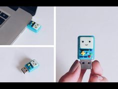 DIY: BMO Polymer Clay Flash Drive Back To School Tutorial - YouTube