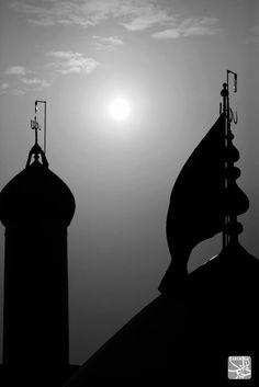 Karbala silhouette Roza Imam Hussain, Imam Hussain Poetry, Imam Hussain Karbala, Ya Hussain Wallpaper, Imam Hussain Wallpapers, Islamic Images, Islamic Pictures, Muharram Wallpaper, Karbala Iraq