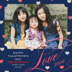 Passionately Put - Valentine's Day Photo Cards by Hello Little One in Navy Blue